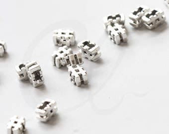 20 Pieces Oxidized Silver Tone Base Metal Spacers- Pound Sign 10x5mm (39036Y-V-135)