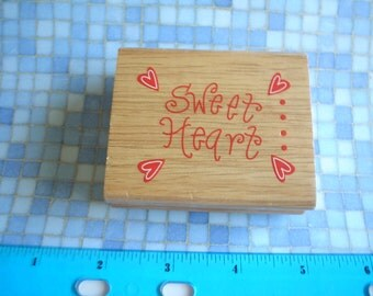 Rubber Stamp - SWEET HEART- One Dollar Stamp NEW
