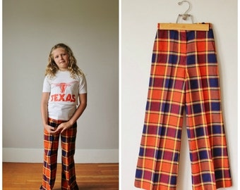 ON SALE 1970s Russ Girl Bell Bottoms >>> Girl's Size 12/14 >>> Women's xxs (00/0)