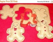 BLACK FRIDAY Gingerbread cookie dough play pretend felt food set, This set includes the cookie dough 2 felt cutouts and 2 stuffed #2556