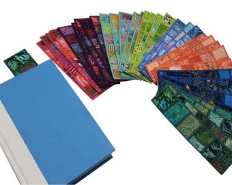 Fabric Bookmarks Set of (2) Two - choose your colors