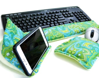 Computer Keyboard Wrist Rest Mouse Wrist Rest Cell Phone Stand I phone Holder Dorm Decor, Tech Accessory, Geek Gift I Phone Stand
