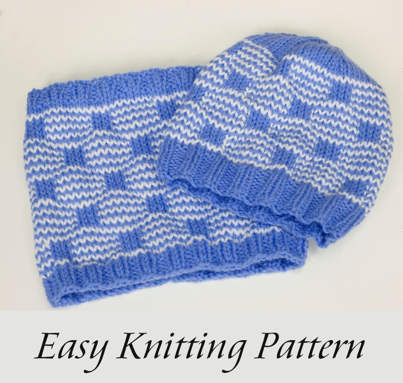 Two Easy Knitting Patterns Mosaic Knitting Cowl Scarf