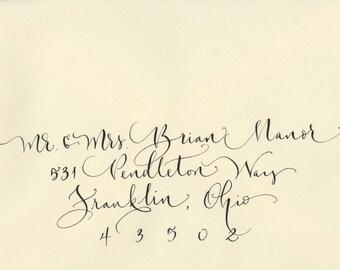 enveloppe de mariage adressage calligraphie