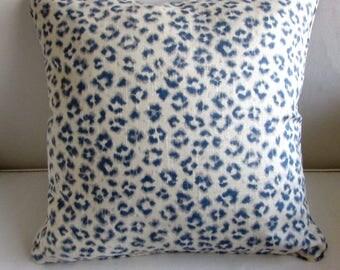CHEETAH LINEN pillow cover 20x20 in Denim