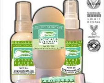 Natural Oxygen Clarifying Skin Care System  Non Toxic Skin Care  Cruelty Free Cosmetics