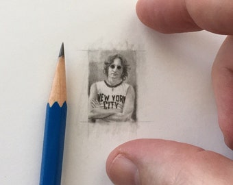 miniature original pencil drawing done by me