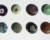 Glass Mini Cabochons #59--66  .... (1) glass CABOCHON handmade organic lampwork jewelry designer cabs SRA