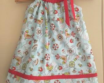 dress SIZE 4t ready to ship ruffled blue summer tunic dress  SALE 10% off code is tiljan
