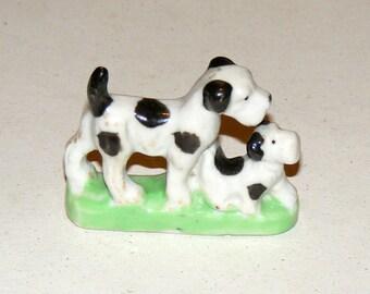Vintage Bisque Terrier Dog Figurine Japan