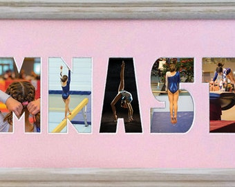 Gymnast Photo Collage (mat only) in 8 x 26