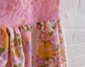 Spring Tea dress {floral lace} size 8-10