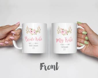 Bride Tribe, My Tribe Mug Set, Bridesmaid Gift, Gift for Bride, Wedding Party Gift, Matching Mug Set / H-U21-MG JES1 AA3