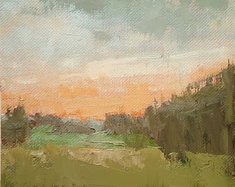 Going Off Island   Oil Painting   6 x 6