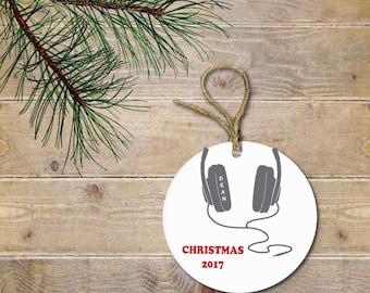Christmas Ornament for Boy, Music Lover, DJ, Gift for Boy, Teenager Gift, Teenage Boy, Teenage Girl, Christmas Gift