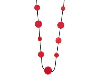 modern red necklace, bold fashion jewellery, Mothers Day gift