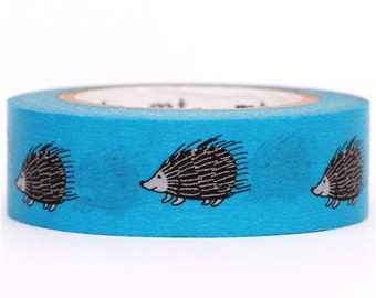 181954 blue hedgehog mt Washi Masking Tape deco tape