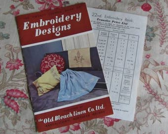 Vintage Embroidery Transfers/Patterns  x 2 - Helga & Booklet - Old Bleach Ireland - 22nd Edition - Scandinavian Style Design