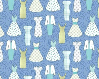 Periwinkle Blue Dresses - Contempo / Benartex cotton woven fabric by the yard