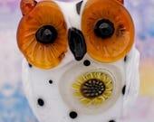 Sunny....... lampwork owl bead, sra