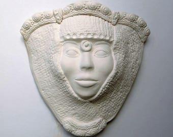 Face Wall Pocket Original Sculpture SECOND