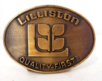 Lilliston Agriculture Belt Buckle Vintage Farm Equipment Ag Country Urban Cowboy