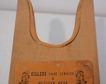 Vintage Boot Jack Sillers Shoe Service Western Wear Blackwell OK Oklahoma Cowboy