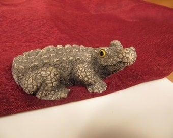 MINIATURE CROCODILE, Crocodile made of resin, Tiny Crocodile, Little Crocodile, two inch crocodile, small crocodile, little mini crocodile