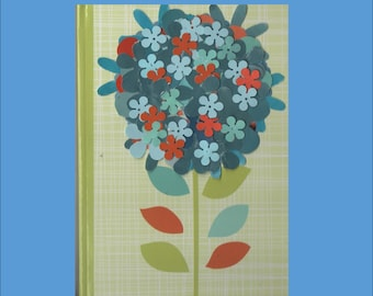 Hand Decorated Retro Floral Themed Journal or Guestbook 4  variations - Free Ship in USA