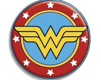 "Wonder Woman Symbol Pocket Mirror, Magnet or Pinback Button - 2.25"" MR571"