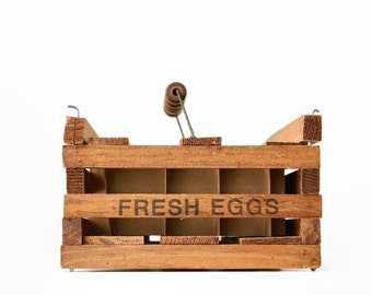 Farmhouse Egg Carrier, Twin Brook Farms Maine, Vintage Egg Carrier, Fresh Eggs, Farmhouse Decor, Vintage Kitchen Storage, Country Kitchen