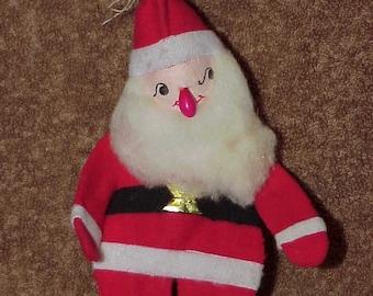 Vintage--Santa Claus--Christmas Ornament--Flat Design--Felt