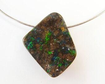 Beautiful Colours Natural Australian Boulder Opal Pendant - Item 2704171