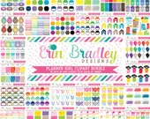 Planner Girl Clipart Bundle Set 2 - 40 Sets Personal & Commercial Use Clip Art Graphics