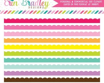 50% OFF SALE Scalloped Borders Clipart Clip Art Personal & Commercial Use Digital Graphics