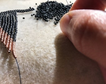 CUSTOM ORDER Handmade Bead Earrings Fringe Original Designs
