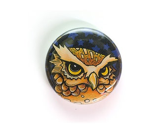Burrowing Owl - One Inch Button