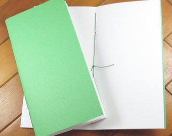Blank Refill Insert for Midori Style Traveler's Notebook - GREEN 60 pages