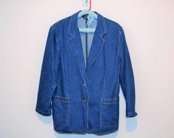 Vintage Denim Blazer .......Must Have