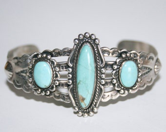Bell Trading Company Sterling Silver Turquoise Bracelet