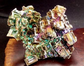 CRYSTAL GARDEN - Brilliant  Bright Metallic Colors  Bismuth Crystals Gem Quality b141