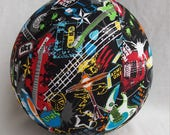 Balloon Ball  - Rock N Roll Guitars - Great Punkster Birthday gift, Photo Prop or Decor