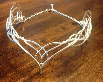 Elven Circlet VARDA Celtic Hand Wire Wrapped - Choose Your Own COLOR - Crown Tiara Bridal Wedding Hairpiece