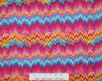 Tibeca Fabric - Delilah Flamestitch Stripe - Timeless Treasures YARD