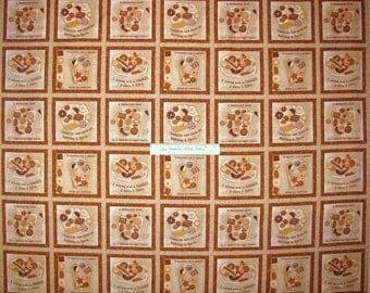 Fabric Biscotti Cookie Dessert Beige Block Spectrix Cotton YARD