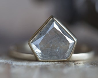 One of a Kind Geometric Diamond Ring