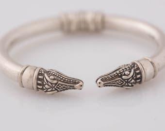 Barry Kieselstein Cord Alligator Bangle Bracelet
