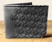 wallet - leather wallet - mens wallet - Box pattern wallet - 004
