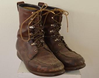 Vintage MASON Moc Toe Hunting Boots sz. 10 EE UNION made in usa chippewa falls wisconsin