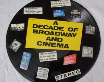 A Decade Of Broadway and Cinema Repurposed Album Cover and Record Music Wall Decor Home Decor